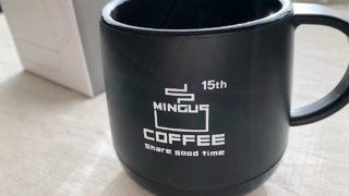 ミンガスコーヒー15周年アニバーサリーマグのブラックを購入